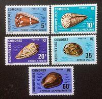 Archipel Des COMORES - Coquillages - Y&T N° 72-76 - 1971 - Komoren (1975-...)