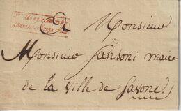 Lettre Inspecteur Douane Impériale Savone (Italie) 1810 Pour Le Maire De Savone - 1792-1815: Départements Conquis