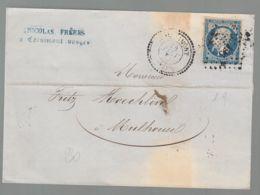Oblit. - Lettre De Cornimont Pour Mulhouse - Losange Petit Chiffres 961  - Cachet Le Tillot à Ramonchamp - 1849-1876: Klassik