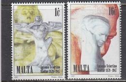Malta 1997 - 50th Anniversary Of The Death Of Antonio Sciortino, Sculptor, Mi-Nr. 1016/17, MNH** - Malta