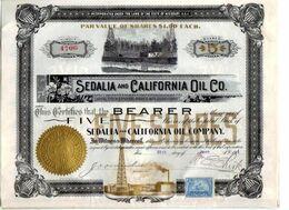 SEDALIA And CALIFORNIA Oil C° - Pétrole