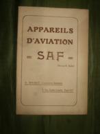 AVIATION : - Appareils D' Aviation SAF ( Brevets E. Basin ) A. Solinot,  : Catalogue Illustré 1913 - Aviation