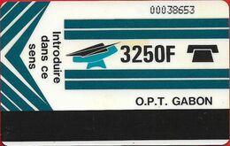 Gabon - OPT (Autelca) - New Logo (Blue), Reverse ''La Machine.. '' - Cn. 000xxxxx Normal 0, 3.250Fcfa, Used - Gabun