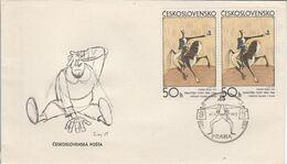 TCHECOSLOVAQUIE FDC 1972 ART GRAPHIQUE - FDC
