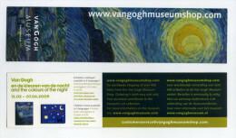 Marque-page Des Pays Bas - Van Gogh Museum - Amsterdam 2009 - Dimensions 20 Cm X 5 Cm - Hollande - Nederland - Bookmarks