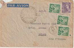 France 1939 Lettre De Paris Pour La Cote D'Ivoire - 1921-1960: Modern Tijdperk