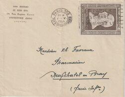 France Pétain 606 Seul Sur Lettre, Oblitération Paris 108 1944 - Postmark Collection (Covers)