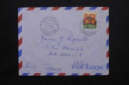A.E.F. - Enveloppe De Fort Sibut Pour La France En 1958, Affranchissement Flore  - L 71888 - Storia Postale