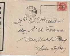 France 1944 Lettre De Paris Pour Neufchatel En Bray (76) - Postmark Collection (Covers)