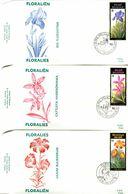 14190031 BE 19900303 Ransart, Halanzy; Floralies Gantoises, Buzin; 3 Fdc Cob2357-59 - FDC