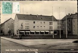 CPA Halle An Der Saale, Stalinallee, Ecke Bunastraße - Andere