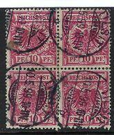 ALLEMAGNE 1889: Bloc De 4 Du Y&T 47, Superbe Obl. CAD Tilsit Du 10.5.99 - Gebruikt