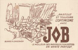 Buvard  JOB  : Le Meilleur Papier à Cigarettes     ///   REF . Sept.  20   ///  N° 12.434 - Tobacco