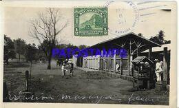 141802 NICARAGUA STATION TRAIN ESTACION DE TREN YEAR 1926 PHOTO NO POSTAL POSTCARD - Nicaragua