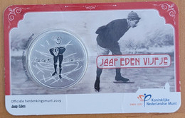 Netherlands 5 Euro 2019. Jaap Eden. Official Coincard - [ 3] 1815-… : Royaume Des Pays-Bas