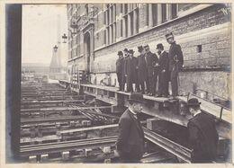 ANTWERPEN-DAM STATIE. ANVERS-DAM STATION. DEPLACEMENT ET REHAUSSE, 1907. PHOTO ORIGINAUX, UNIQUE -LILHU - Orte