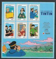 FRANCE 2007 BLOC 109 AU PROFIT DE LA CROIX ROUGE PERSONNAGES CELEBRES LES VOYAGES DE TINTIN DU DESSINATEUR HERGE - Mint/Hinged