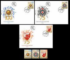 Serbia 2020. Anniversary Sports Association Red Star Partizan Radnicki, Diving Volleyball Basketball, FDC+ Stamps, MNH - Tauchen