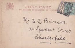 1903 SQUARED CIRCLE - BARNSLEY POST MARK - Postmark Collection