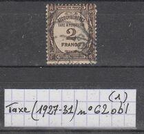 France Taxes (1927-31) Y/T N° 62 Oblitéré à 10% De La Cote - Portomarken