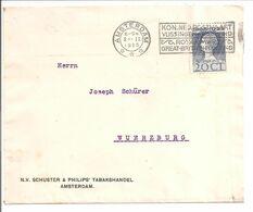 1923 Jubileum  20 Cent N.V.P.H.125.Amsterdam Kon.Ned.Postvaart >Suisse - Covers & Documents
