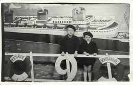 Themes Div- Ref FF403- Carte Photo -photographie - Decor Photographe -bateau -paquebot Normandie -paquebots - Bateaux - - Photographie