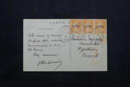 ALGÉRIE - Affranchissement Type Semeuses De Ain Temouchent Sur Carte Postale En 1924 Pour Tiaret - L 71924 - Lettres & Documents