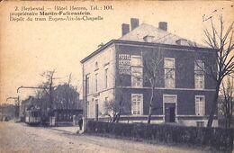 Herbestal - Hôtel Herren, Dépôt Du Tram Eupen-Aix-la-Chapelle (animée Tramway, L'Illustration Générale TOB) - Lontzen
