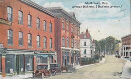 Canada PPC Sherbrooke Quebec Avenue Dufferin SHERBROOKE 1922 STOCKHOLM Sweden TAXE & Swedish LÖSEN Label (Part Of) - Sherbrooke