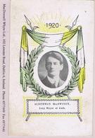 "Ireland Cork 1920 MacSwiney Memorial Picture Postcard, Coloured Lithographed ""CARTA POSTA"" - Unclassified"