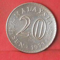 MALAYSIA 20 SENTIMOS 1973 -    KM# 4 - (Nº37681) - Malasia