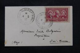 ALGÉRIE - Enveloppe De Alger Pour Sidi Moussa En 1939, Oblitération Du Congrès Eucharistique - L 71957 - Lettres & Documents