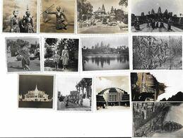 CAMBODGE 1946 LOT DE 13 PHOTOS - Places