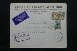 ALGÉRIE - Enveloppe Commerciale De Alger Pour La Suisse En 1952  - L 71962 - Storia Postale