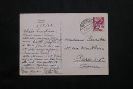 ALLEMAGNE - Affranchissement De Todtnau En 1948 Sur Carte Postale Pour Paris - L 71968 - Zona Francesa
