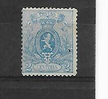 België  N° 24  Zonder Gom - 1866-1867 Petit Lion
