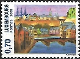 Luxembourgh 2008 Ville Du Luxembourgh Peinture, 1 Val Mnh - Unused Stamps