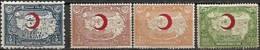 Turquie 1928-1938 Croissant-Rouge Surcharge Carmin Timbres Bienfaisance , 3 + 1 Val MH - Altri