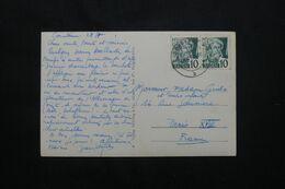 ALLEMAGNE - Affranchissement Occupation Française En 1949 Sur Carte Postale Pour La France - L 71973 - Zona Francesa