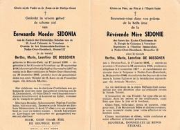Zuster, Soeur: Deurne-Zuid, Deurne-Sud, Neder-over-Heembeek, Brussel: 1960, Bertha De Bosscher, Vorselaar - Devotion Images
