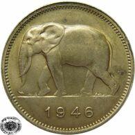 LaZooRo: Belgian Congo 2 Francs 1946 UNC - 1910-1934: Albert I