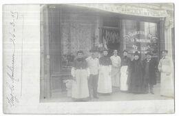 """Issy Les Moulineaux Carte Photo Charcuterie Maison Clement """" Changement De Propriétaire """" 24/03/1905 - Issy Les Moulineaux"""