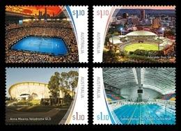 Australia 2020 Mih. 5089/92 Stadiums (II). Tennis. Cricket. Football. Cycling. Swimming MNH ** - Mint Stamps