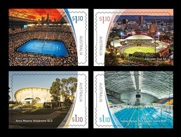 Australia 2020 Mih. 5093II/96II Stadiums (II). Tennis. Cricket. Football. Cycling. Swimming (self-adhesive) MNH ** - Mint Stamps