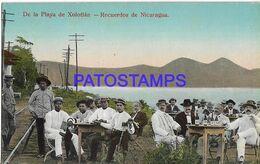 141856 NICARAGUA XOLOTLAN COSTUMES MAN'S IN BEACH DRINK POSTAL POSTCARD - Nicaragua