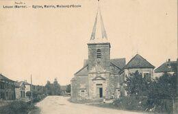 52) LOUZE : Eglise, Mairie, école (1909) - Frankrijk