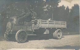 Carte-Photo : Matériel Militaire - Camion De Dion Bouton Par BELLEGARDE à Lyon (1916) (BP) - Krieg, Militär