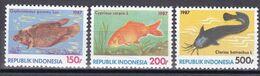 Indonesien 1987 - Mi.Nr. 1242 - 1244 - Postfrisch MNH - Tiere Animals Fische Fishes - Fishes