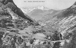 Stalden Bahnhof Und Alpen - VS Wallis