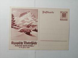 Deutsches Reich  Postkarte Olympische Winterspiele 1936 - Allemagne